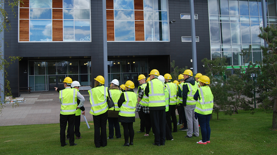 Staff and Students Visit New Main Campus